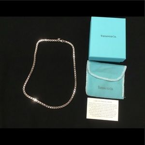 Tiffany & Co Silver Box Link Necklace